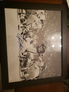 Jim Brown Autograph Football Photo in Frame