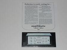 Marantz 7t 1966 Ad, 1 page, Specs, Article, Info Spectroscope