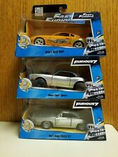 Jada Fast and Furious Chevy Camaro, Toyota Supra & Dodge Charger R/T- 1:43 Scale