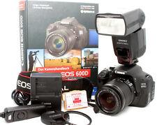 Canon EOS 600d fotocamera digitale/nero con EF-S 18-55 solo 6789 inneschi