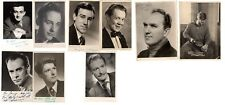 9 x Old Original Hand Signed UK Celebrity Actor Photos From 1940s 1950s