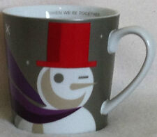 Starbucks Winking Snowman Mug When We're Together Winter Holiday Cup 2011