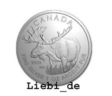 5$ Silber / Silver Kanada / Canada Wildlife Elch / Moose 2012 1 OZ