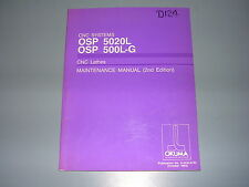 Okuma CNC Systems OSP5020L,500L-G  CNC Lathes Maintenance Manual, K-3530-E-R1