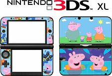 Nintendo 3DS XL 3DSXL 3 DS XL PEPPA PIG Vinyl Skin Decal Sticker
