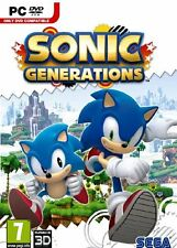 Computer PC Sonic Generations Jump 'n' Run Game DVD Shipping NEW