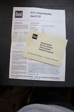 Dual Original Datenblatt für HI-FI-Lautsprecherbox CL 30