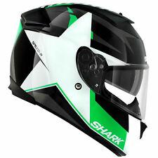 Shark Speed-R Texas Motorcycle Helmet Black/White/Green L 59-60 cm RRP $549.00