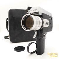 Canon 518 Auto Zoom Super 8 Cine Film Camera & Case - Fully Working #S8-3005