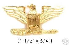 US ARMY MILITARY POLICE FIRE SECURITY COLONEL EAGLE COLLAR BRASS INSIGNIA PINS