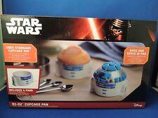 New Star Wars R2 D2 Set 4 Cupcake Pans Disney Bake & Serve Kitchen Decor