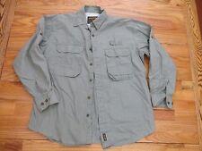 Woolrich Green Cotton Travel Fishing Hunting Shirt Lightweight Men's L  NYZ12