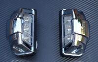 2x 12V LED Bianco Anteriore Posteriore Targa Luci Telaio Bus Furgone Camion