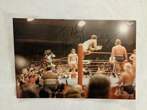 GINO HERNANDEZ SIGNED AUTOGRAPH  PHOTO 4X6 WCCW WCW WWF WWE BAS BECKETT AUTH