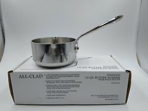 All-Clad Tri-Ply Stainless-Steel Butter Warmer with pour spout 1/2-Qt. NIB