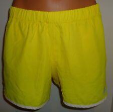 Adidas Climalite 365 yellow white built in underwear running shorts