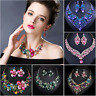 Fashion Bib Choker Chunk Crystal Pendant Statement Necklace Party Women Jewelry