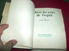 AVEC LES YEUX DE L'ESPRIT - R. BEHAINE - Les Cahiers Verts N.5 1928 -numéroté 11