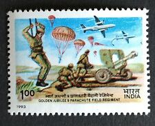 INDIA 1993 9th Parachute Field Artillery Regiment Airplane stamp MNH
