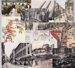 GIBRALTAR - old postcards - 90+ cards- sold singly