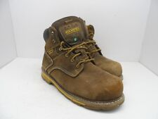 Dakota Men's 6'' Quad Comfort Steel Toe Composite Plate Work Boots Brown 11 Wide