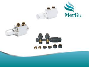 Badheizkörper Multiblock Anschlußgarnitur Thermostat Ventilhahnblock Mittelansch