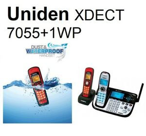 Uniden XDECT 7055+1WP Cordless Phone with Additional Waterproof Handset