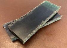 "4-1/2"" Pair of Raw Micarta Scale Jewelry-Razor-Knife Handle Making Supplies"