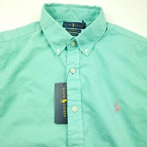 Ralph Lauren Short Sleeve Classic Featherweight Twill Shirt Mens Large Green
