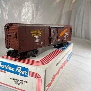 Western Pacific Box Car Brown American Flyer S Gauge # 6-48307 Rolling Stock