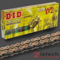 DID Motorrad Antriebs Kette Endlos X-Ring 520 VX2 116 Glieder Gold-Schwarz