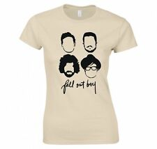 "FALL OUT BOY ""SILHOUETTE FACES"" LADIES T-SHIRT NEW"