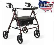 Disabled Rollator Walker Chair With Seat Padded Extra Wide Heavy Duty Mobility