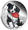 2018 Puppies - BORDER COLLIE 1/2 oz Silver Proof 50c Half Dollar Coin Colorized
