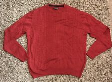NORDSTROM Mens Cranberry Long Sleeve Sweater Size L