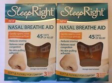 6 SLEEP RIGHT Nose Nasal Breathe Aid Stop Snoring Breath Breathing +Case 2 Boxes