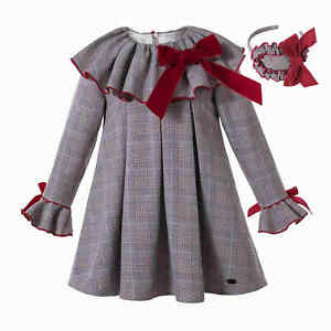 Pettigirl Girls Christmas Dresses Size 2-3 3-4 4-5 5-6 6-7 7-8 + Hairband