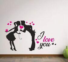 Wandaufkleber Wandtattoo Aufkleber 2 farbig Tattoo Paar Pärchen Liebe ist LOVE 5