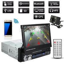 "7"" Single 1Din Dash Car Radio Stereo Video Player GPS Bluetooth USB MP5 w/ Cam"