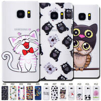 Soft Back Silicone Rubber Pattern Skin Clear Cute Gel TPU Case Cover For Samsung