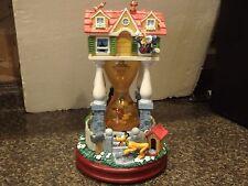 DISNEY MICKEY AT HOME HOURGLASS SNOWGLOBE MUSICAL w box