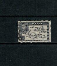 Fiji violet black shade SG 261a, 6d VF Used, 1944