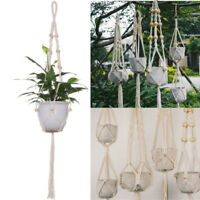 Pot Holder Macrame Plant Hanger Hanging Planter Basket Jute Braided Rope Craft H