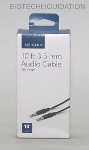 Insignia - 10' 3.5mm Audio Cable - Black