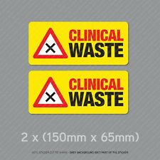 Clinical Waste Self Adhesive Vinyl Stickers Safety Sign Business Clinic SKU5331