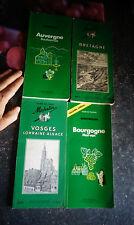 Ancien Guide des Régions Vert Auvergne Vosges Bourgogne Bretagne