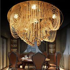 Modern minimalist Crystal Chandelier Villa crystal Light Ceiling lamp Lighting #