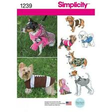 Simplicity Dog Coat Clothes Fabric Sewing Pattern 1239