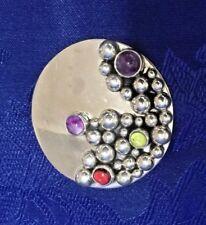 """Silver """"Bubble"""" Brooch/Pendant Mexico Carsi Sterling"""