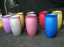8 vintage swanky swigs / Mirro brand / unusual shape & soft colors all aluminum